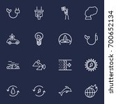 set of 16 ecology outline icons ... | Shutterstock .eps vector #700652134
