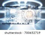 abstract digital business... | Shutterstock . vector #700652719
