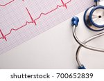 electrocardiogram and blue...   Shutterstock . vector #700652839