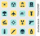 battle icons set. collection of ... | Shutterstock .eps vector #700652989