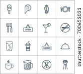 icons set. collection of tea ... | Shutterstock .eps vector #700653031