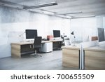 white office room interior with ... | Shutterstock . vector #700655509