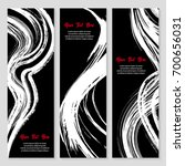 set of modern grunge style... | Shutterstock .eps vector #700656031