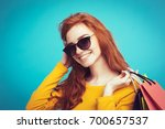 shopping concept   close up... | Shutterstock . vector #700657537