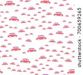 seamless pattern with toy cars. ... | Shutterstock .eps vector #700659265