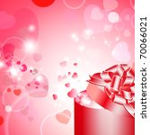 valentine gift box with ribbon... | Shutterstock .eps vector #70066021