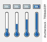 vector goal blue thermometers... | Shutterstock .eps vector #700666339