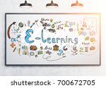 bright and colorful e learning... | Shutterstock . vector #700672705