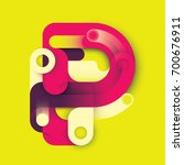 abstract p letter design  made... | Shutterstock .eps vector #700676911