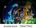 smart factory concept. internet ... | Shutterstock . vector #700677061