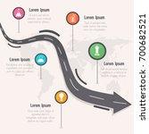 roadmap timeline infographics... | Shutterstock .eps vector #700682521