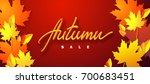 autumn sale. vector typographic ... | Shutterstock .eps vector #700683451