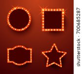 retro marquee frames with light ... | Shutterstock .eps vector #700685287