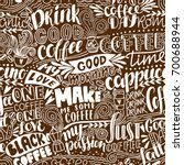 Seamless Lettering Coffee...