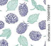 blackberry seamless pattern....