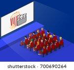 isometric flat 3d concept... | Shutterstock .eps vector #700690264