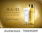 golden cosmetic ads template  a ... | Shutterstock .eps vector #700690309