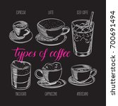 set of different types of... | Shutterstock .eps vector #700691494