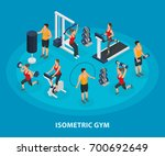 isometric sport and healthy... | Shutterstock .eps vector #700692649
