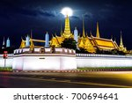 wat phra keaw with full moon at ... | Shutterstock . vector #700694641