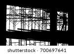 silhouette scaffolding elements ... | Shutterstock . vector #700697641