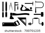 carpentry icons woodwork tool...   Shutterstock .eps vector #700701235