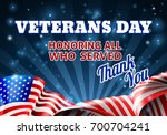 a veterans day background with... | Shutterstock .eps vector #700704241