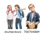 classmates laughing at... | Shutterstock . vector #700704889