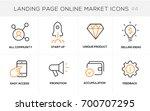 flat line design concept icons... | Shutterstock .eps vector #700707295