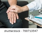 geriatric doctor consulting and ... | Shutterstock . vector #700713547
