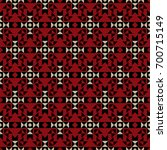 vector seamless ethnic pattern. ... | Shutterstock .eps vector #700715149