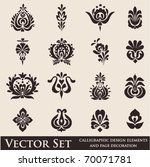 set of various vector symbols | Shutterstock .eps vector #70071781