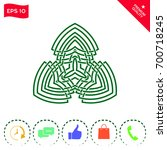 geometric oriental arabic... | Shutterstock .eps vector #700718245