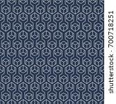 hexagon ornament pattern  ... | Shutterstock .eps vector #700718251
