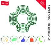 geometric oriental arabic... | Shutterstock .eps vector #700718359