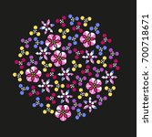 abstract vector cloud of... | Shutterstock .eps vector #700718671
