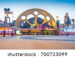 enternance to dubai park and... | Shutterstock . vector #700723099