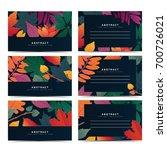 set template invitation card... | Shutterstock .eps vector #700726021