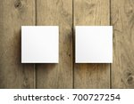 square business card mockup... | Shutterstock . vector #700727254