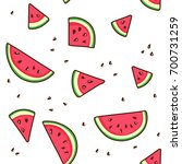 watermelon slices tropical... | Shutterstock .eps vector #700731259