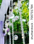 lilac wedding arch with glass... | Shutterstock . vector #700731784