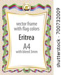 frame and border of ribbon with ...   Shutterstock .eps vector #700732009