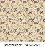 butterfly patterns seamless... | Shutterstock .eps vector #700736491