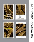 set of covers with golden light ... | Shutterstock .eps vector #700737244