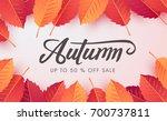 autumn sale background layout... | Shutterstock .eps vector #700737811