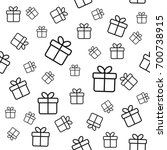 seamless pattern with line gift ... | Shutterstock . vector #700738915