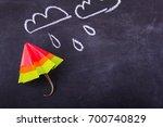 origami yellow red blue cartoon ...   Shutterstock . vector #700740829