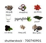 vector super food illustration. ... | Shutterstock .eps vector #700740901