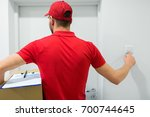 home delivery service  mail ... | Shutterstock . vector #700744645
