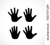 Human Palm Hand Vector...